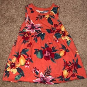 Old Navy Toddler Girls Tropical Fit & Flare Dress